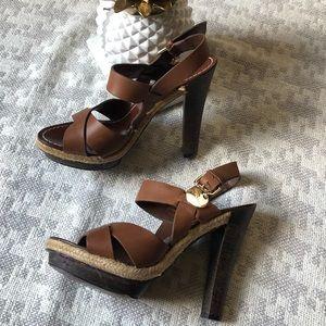 BCBG girls platform sandals in brown